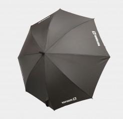 Parapluie en bâton noir-rouge
